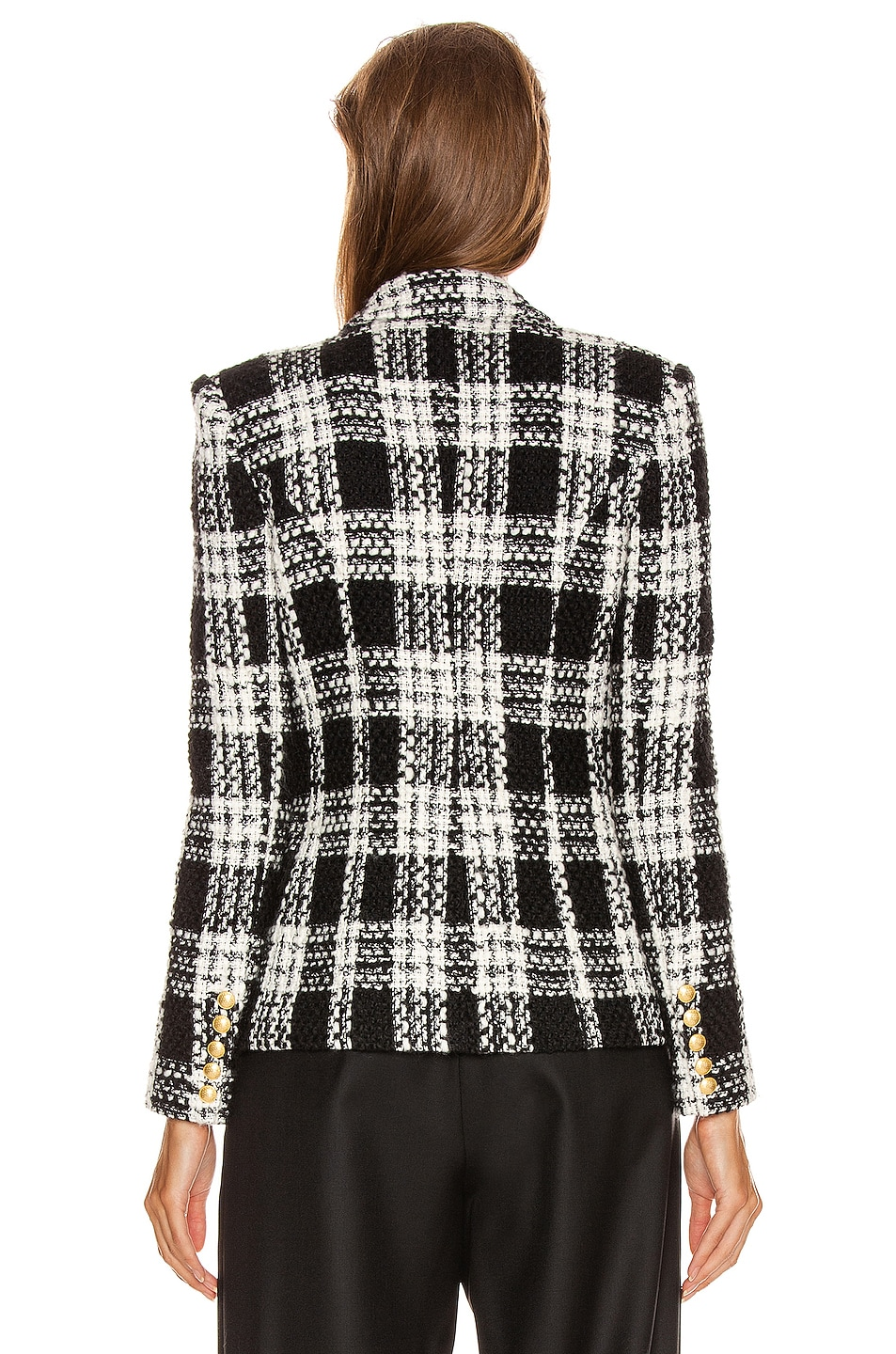 Image 4 of L'AGENCE Kenzie Double Breasted Blazer in Ivory & Black