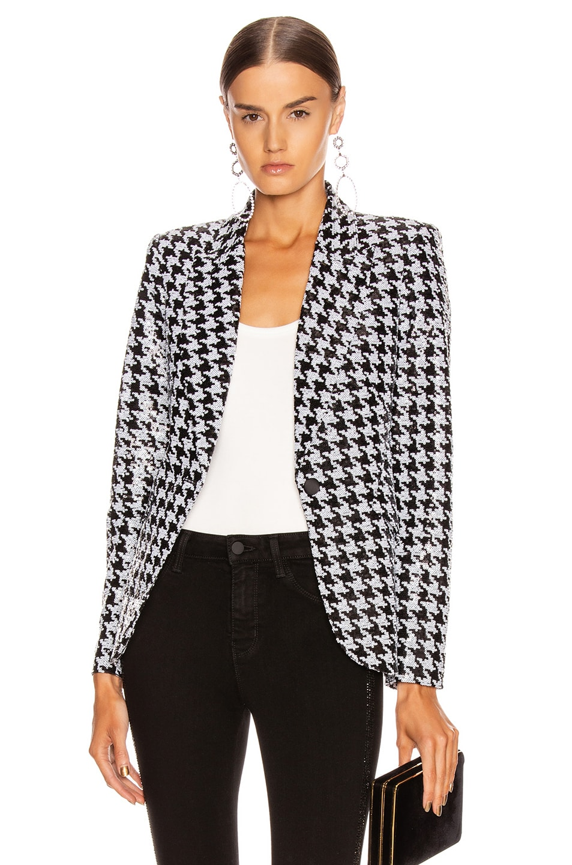 Image 3 of L'AGENCE Chamberlain Blazer in Black & White