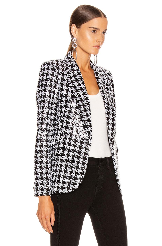 Image 4 of L'AGENCE Chamberlain Blazer in Black & White