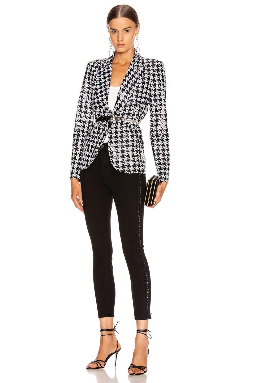 Image 6 of L'AGENCE Chamberlain Blazer in Black & White