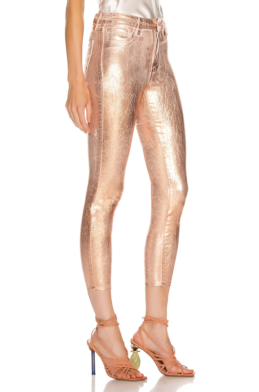 Image 2 of L'AGENCE Margot High Rise Skinny in Petal & Light Rose Gold Foil