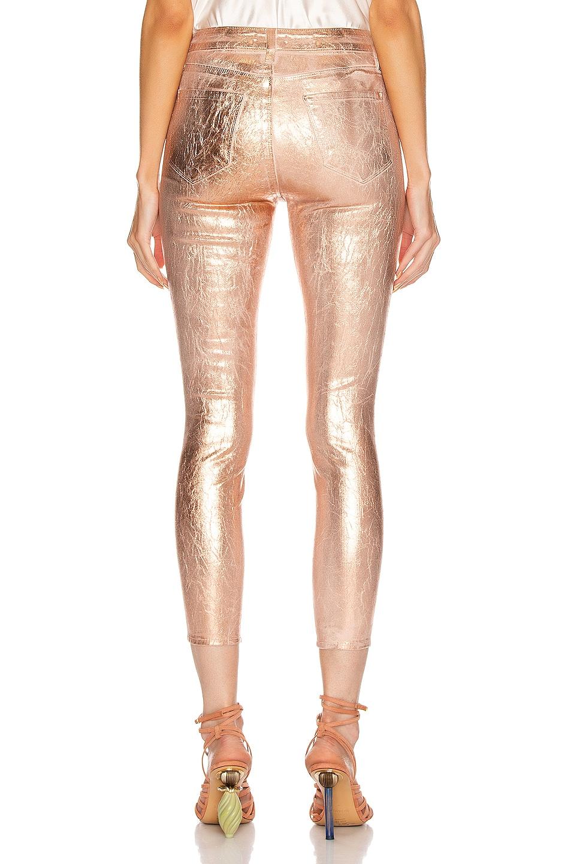 Image 3 of L'AGENCE Margot High Rise Skinny in Petal & Light Rose Gold Foil