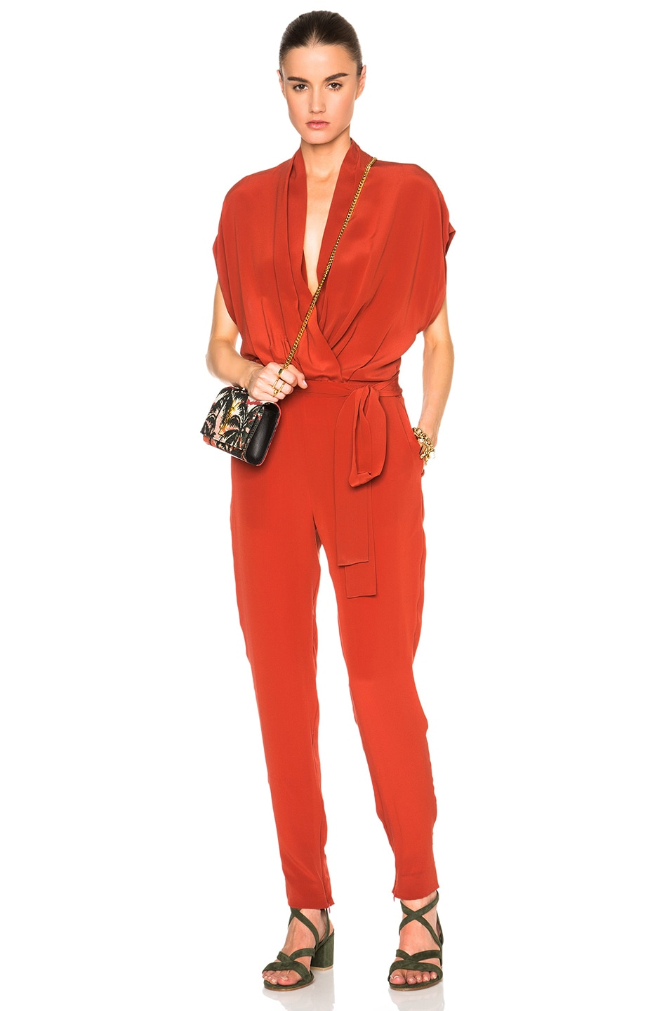 Image 1 of L'AGENCE Olivia Jumpsuit in Harissa