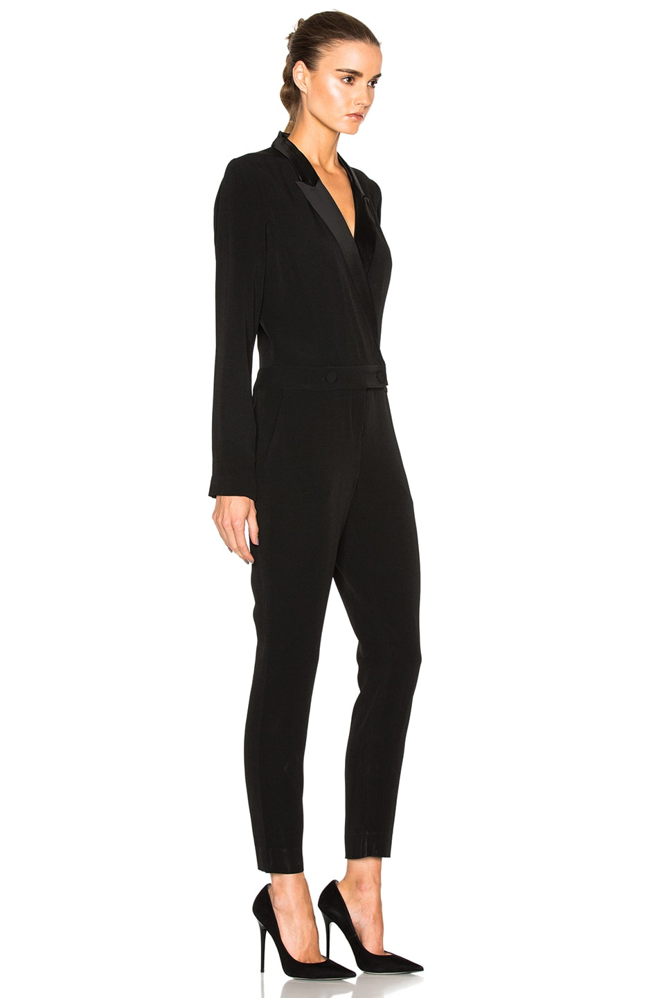 3933e1637b4 Image 3 of L AGENCE Wes Jumpsuit in Black