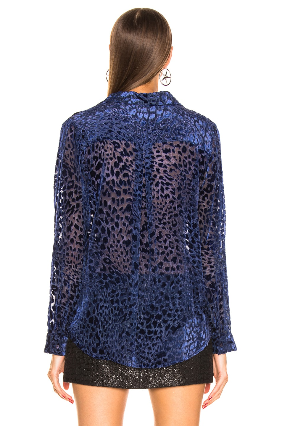 Image 3 of L'AGENCE Nina Long Sleeve Blouse in Navy