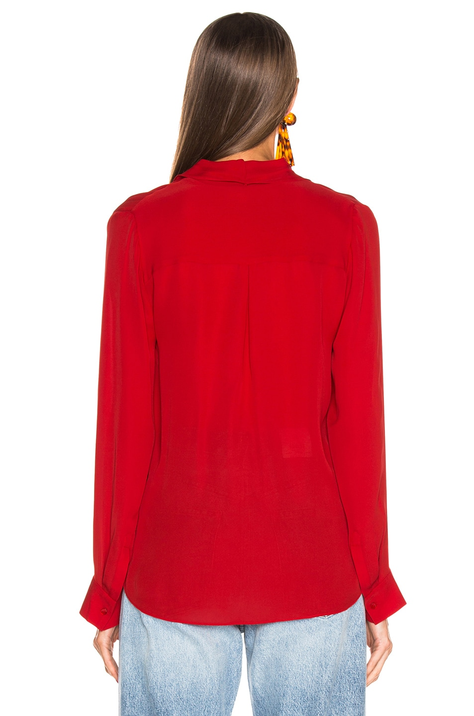 Image 3 of L'AGENCE Mariposa Blouse in Engine Red