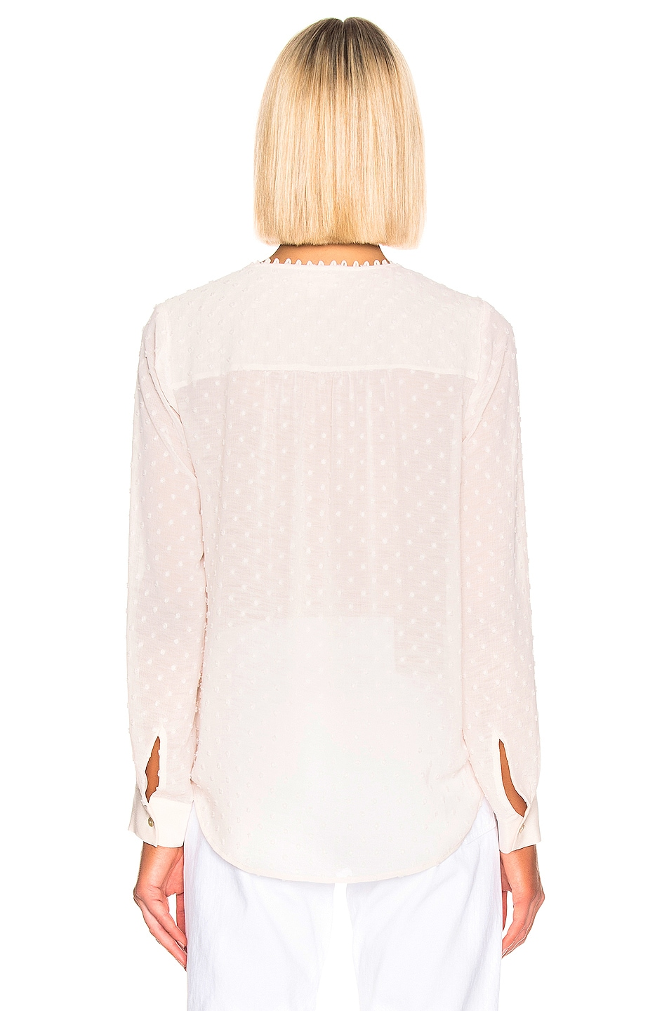 Image 3 of L'AGENCE Perry Fabric Blocked Blouse in Champagne Combo