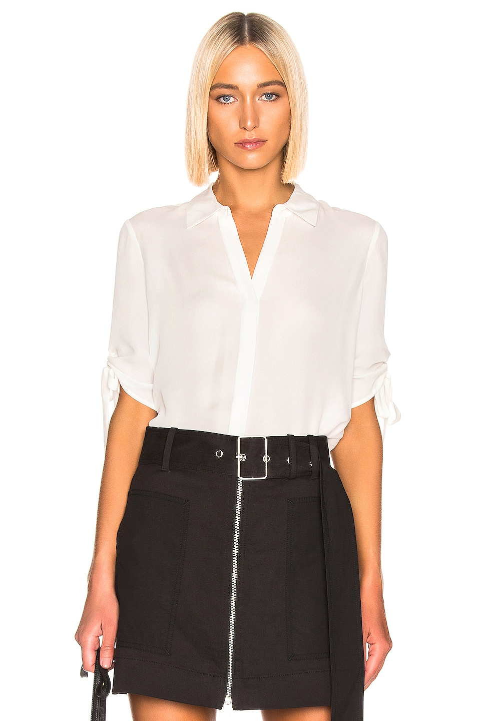 Image 1 of L'AGENCE Isa Top in White