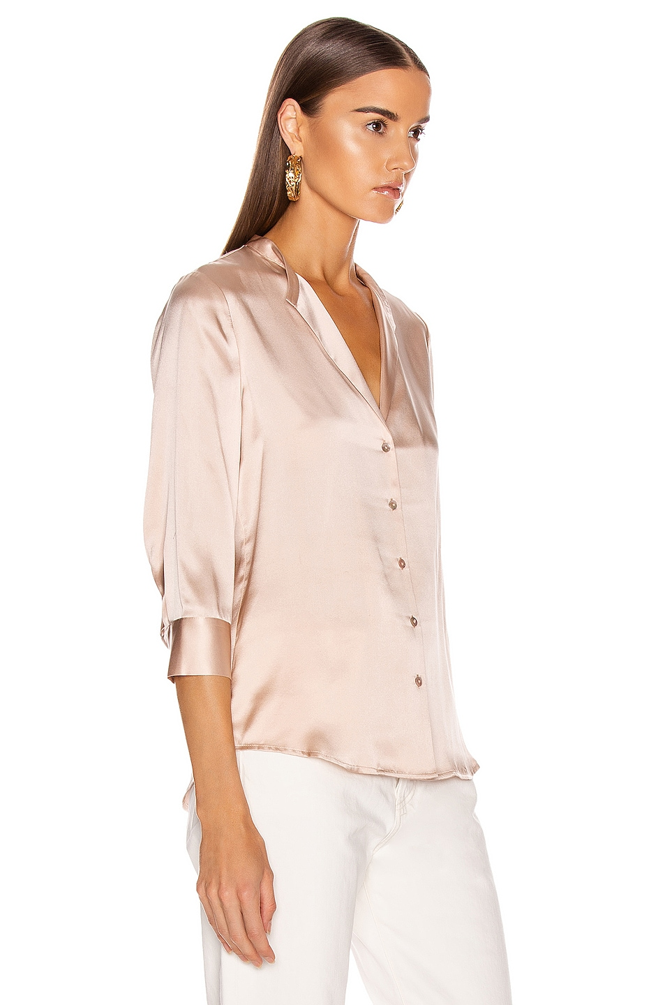 Image 2 of L'AGENCE Aoki Band Collar Blouse in Petal