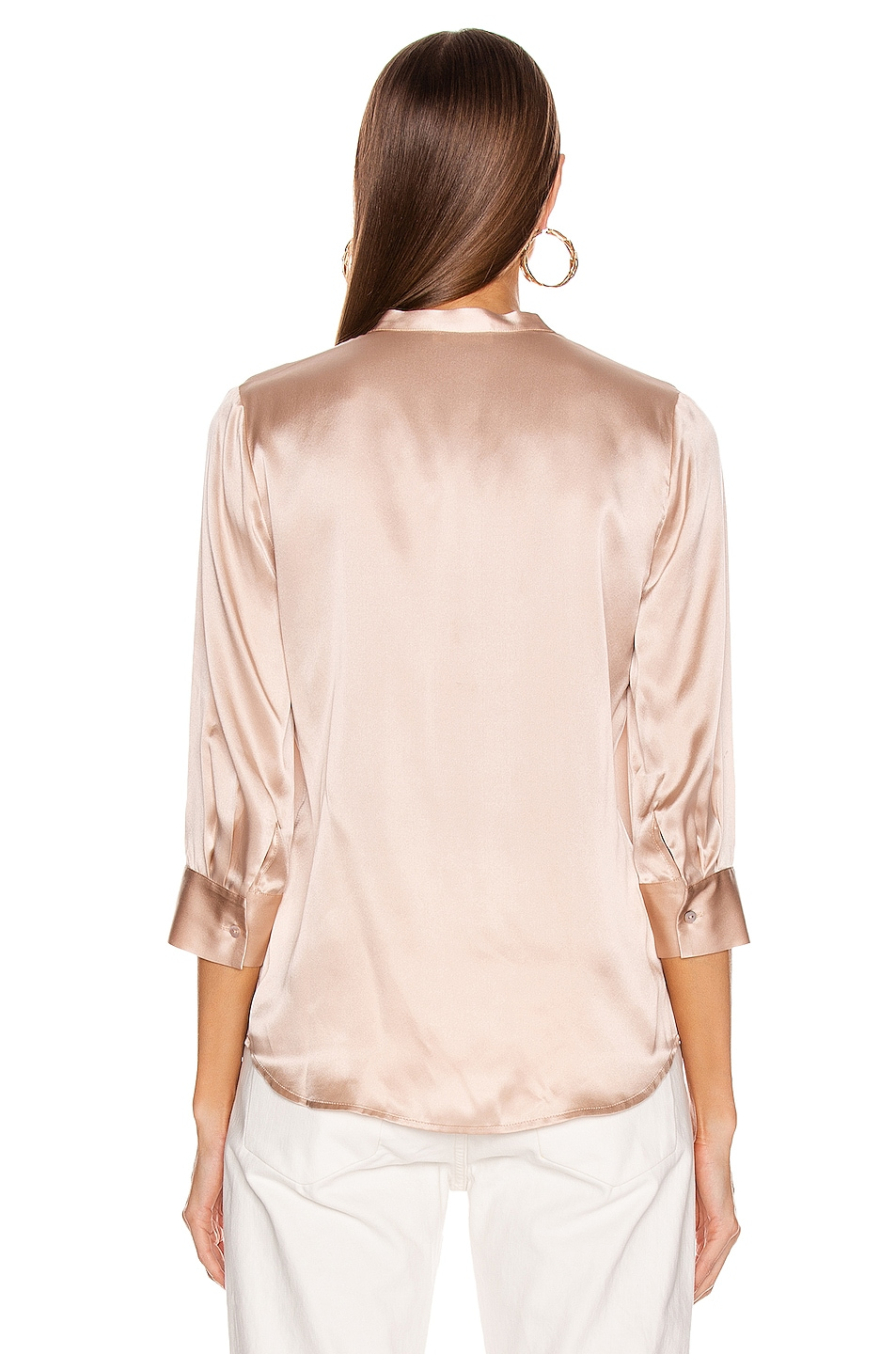 Image 3 of L'AGENCE Aoki Band Collar Blouse in Petal