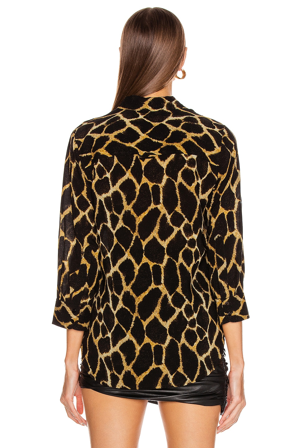 Image 3 of L'AGENCE Ryan 3/4 Sleeve Blouse in Sienna Safari