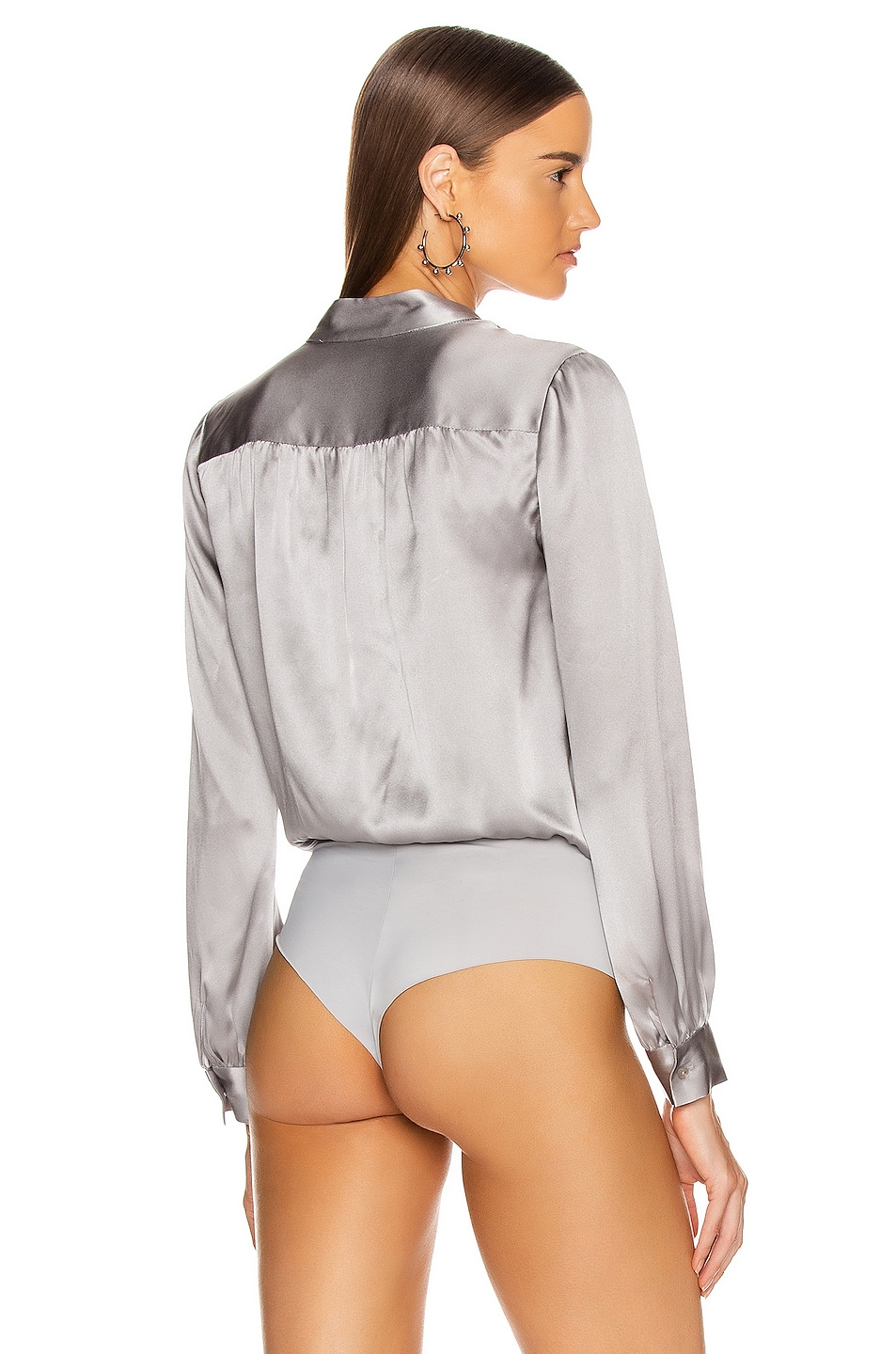 Image 4 of L'AGENCE Marcella Bodysuit in Pearl Grey