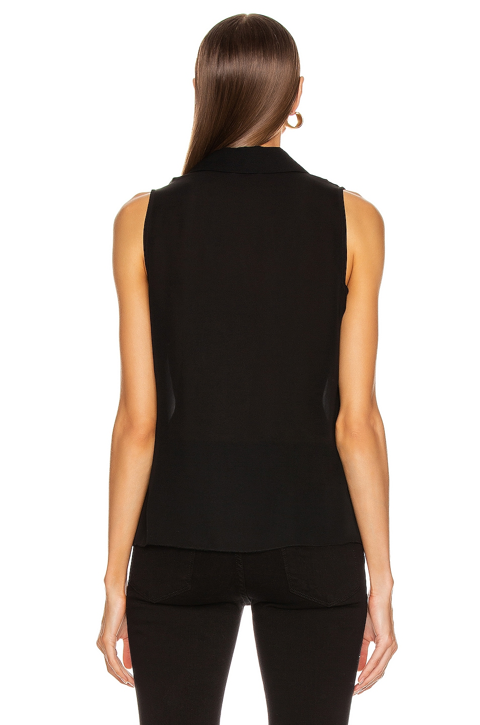 Image 3 of L'AGENCE Tanya Button Loop Blouse in Black