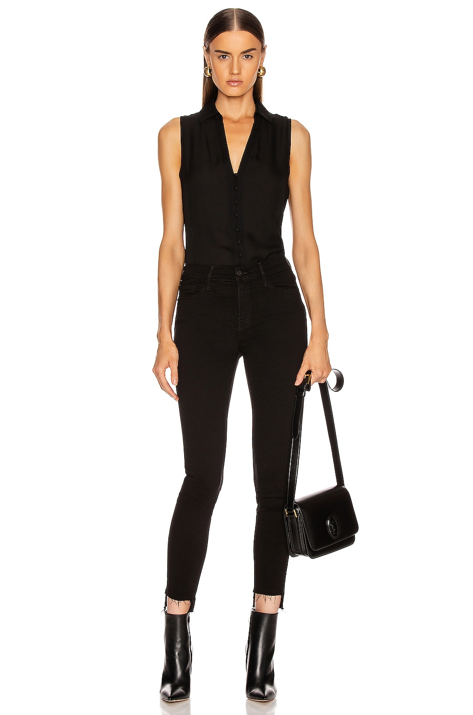 Image 4 of L'AGENCE Tanya Button Loop Blouse in Black