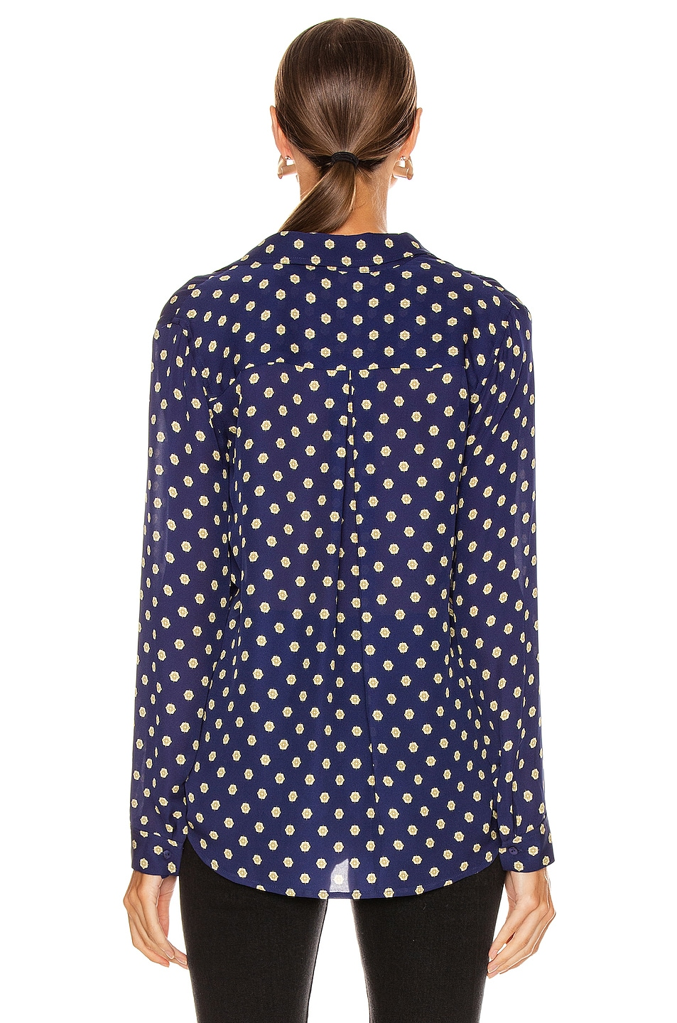Image 3 of L'AGENCE Nina Long Sleeve Top in Oceana Multi Maestro
