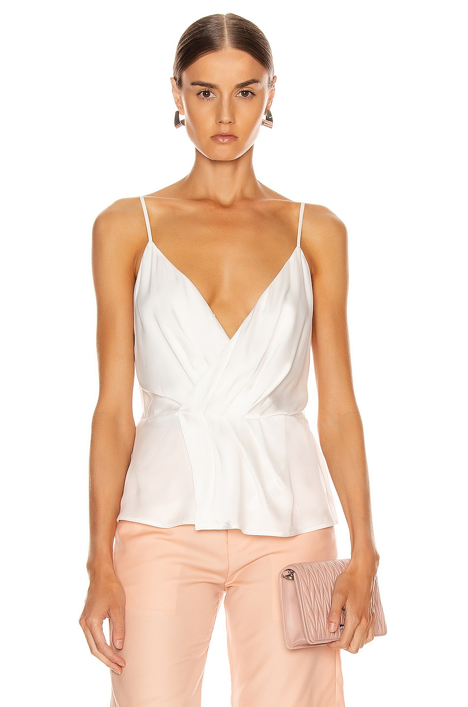 Image 1 of L'AGENCE Chiara Twist Tank Top in Ivory