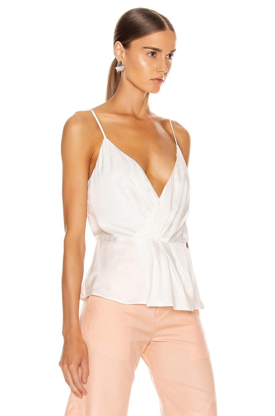 Image 2 of L'AGENCE Chiara Twist Tank Top in Ivory