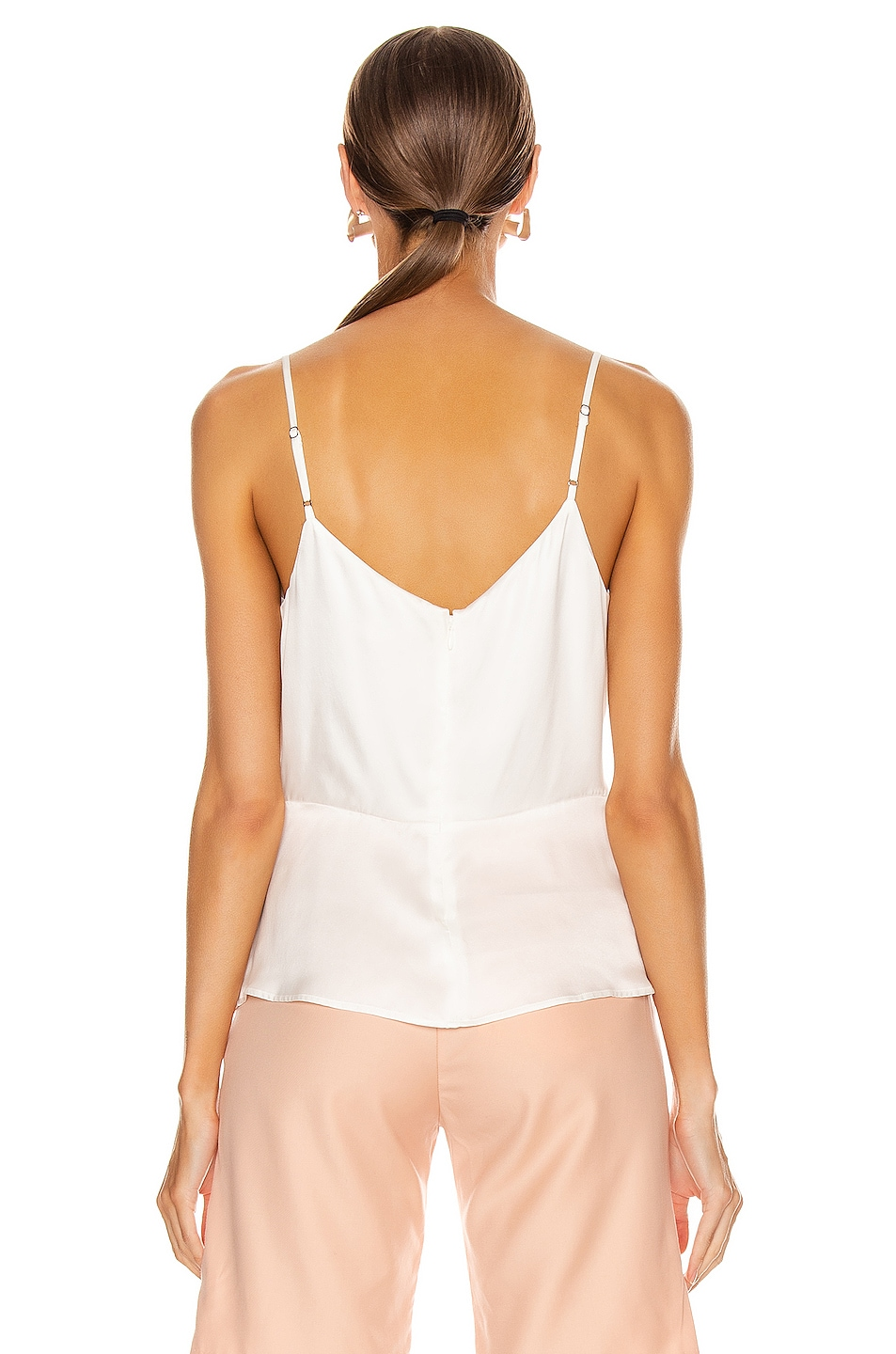 Image 3 of L'AGENCE Chiara Twist Tank Top in Ivory