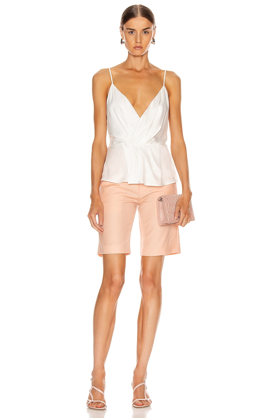 Image 4 of L'AGENCE Chiara Twist Tank Top in Ivory