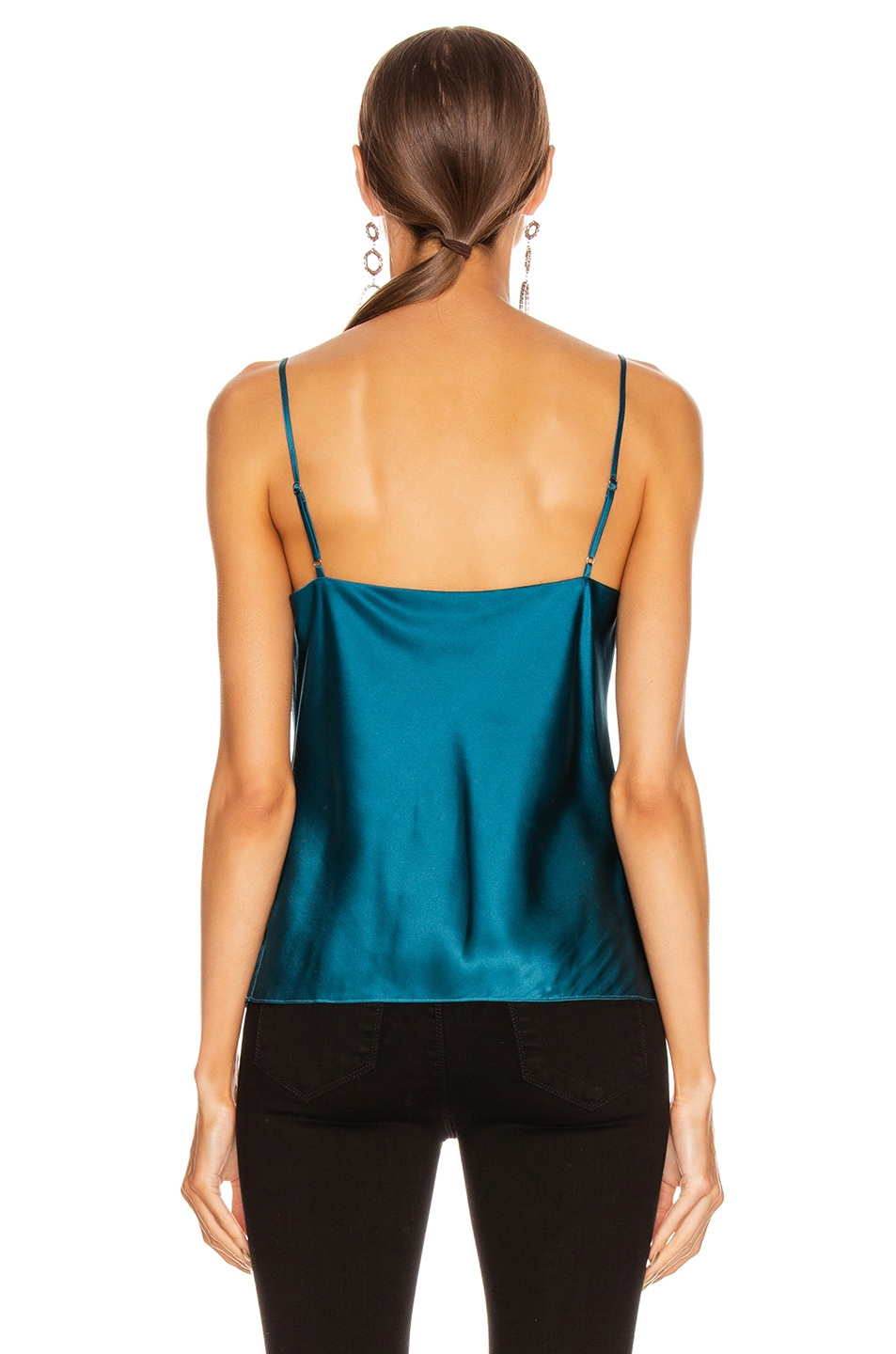 Image 3 of L'AGENCE Kay Cowl Tank in Cortez Blue