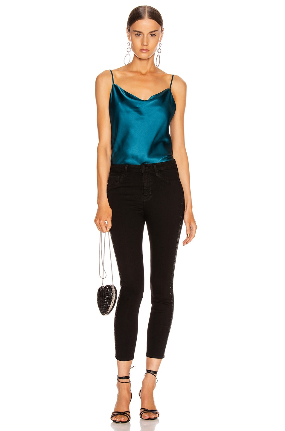 Image 4 of L'AGENCE Kay Cowl Tank in Cortez Blue