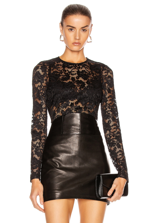 Image 1 of L'AGENCE Annika Scoop Neck Top in Black