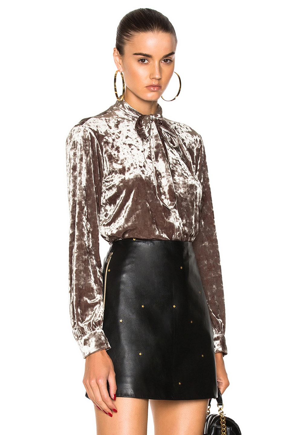 L'AGENCE Gisele Blouse in Metallics,Yellow