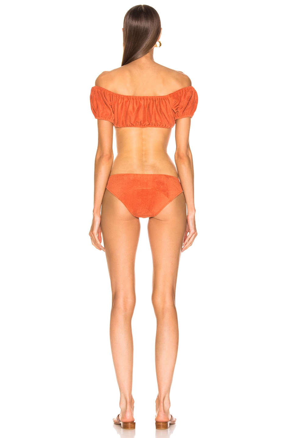 Image 3 of Lisa Marie Fernandez Leandra Terry Bikini in Terracotta
