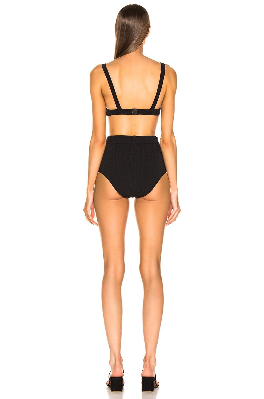 Image 3 of Lisa Marie Fernandez Magdalena Belted High Waist Bikini in Black