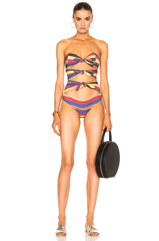 0bdbc62a2696a Image 1 of Lisa Marie Fernandez Triple Poppy Striped Swimsuit in Mexican  Stripe