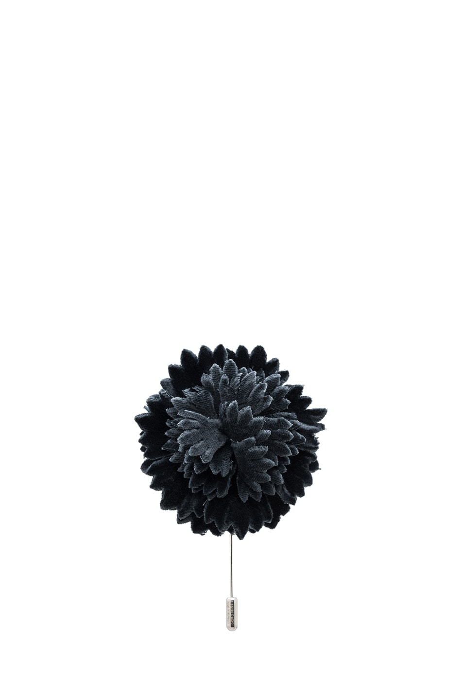 Image 1 of Lanvin Flower Pin in Anthracite