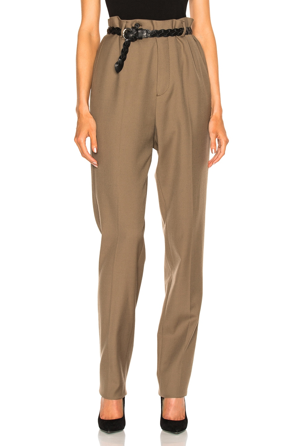 Image 1 of Lanvin Low Crotch Trousers in Sand