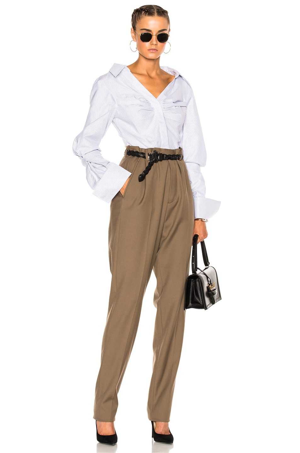 Image 5 of Lanvin Low Crotch Trousers in Sand