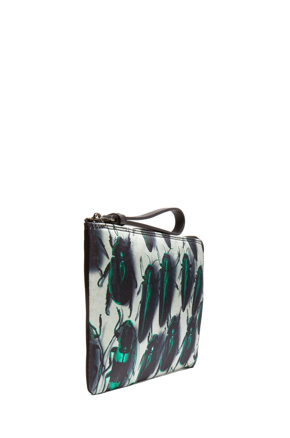 Image 3 of Lanvin Beetle Pouch in Vert