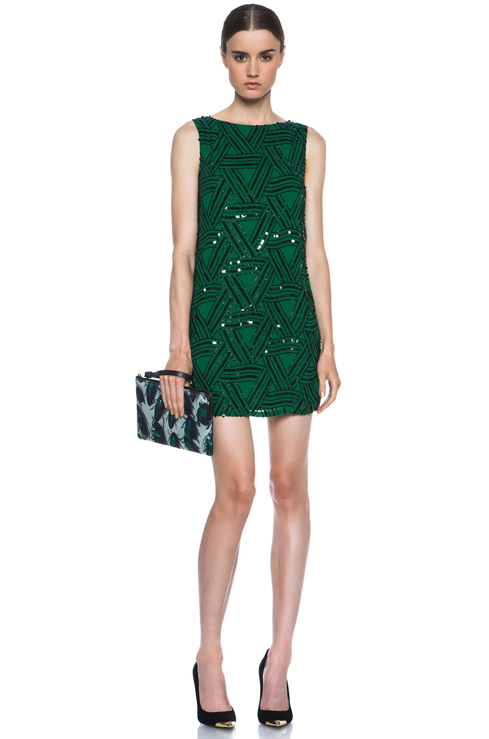 Image 5 of Lanvin Beetle Pouch in Vert