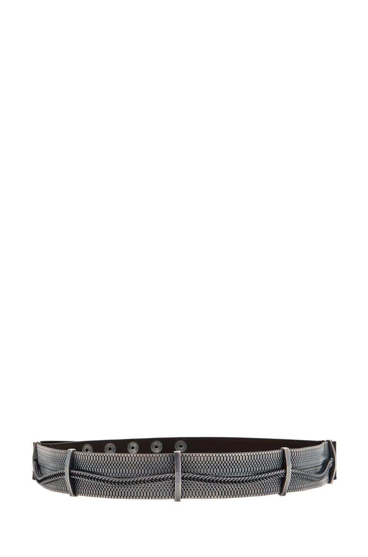 Image 1 of Lanvin Chain Plate Belt in Steel