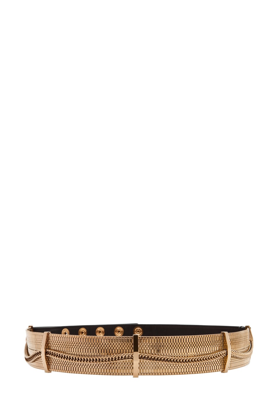 Image 1 of Lanvin Chain Plate Belt in Gold