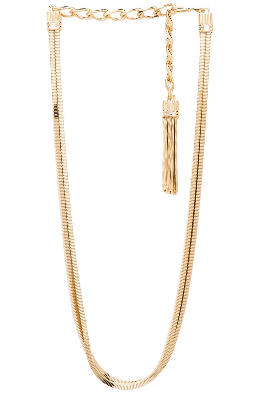 Image 1 of Lanvin Tassel Belt Necklace in Gold