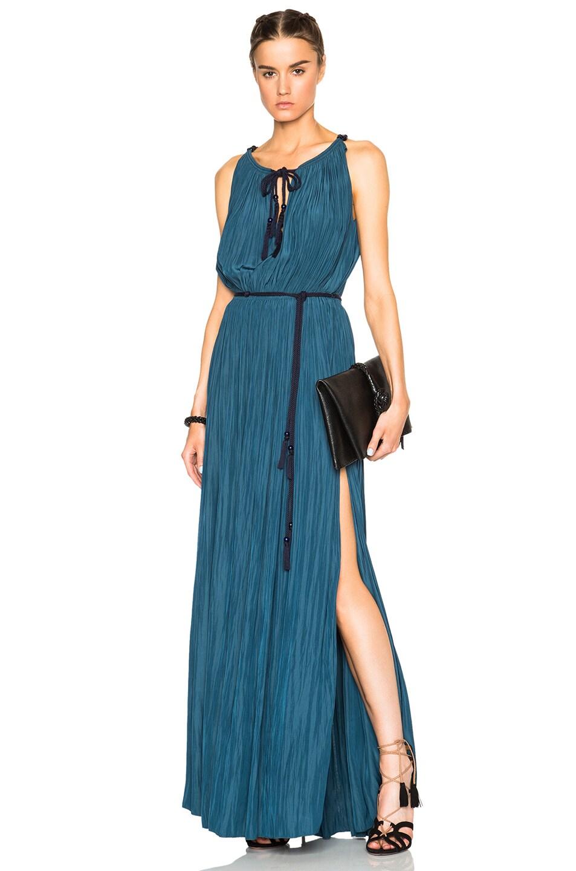 Image 1 of Lanvin Sleeveless Dress in Ocean Blue