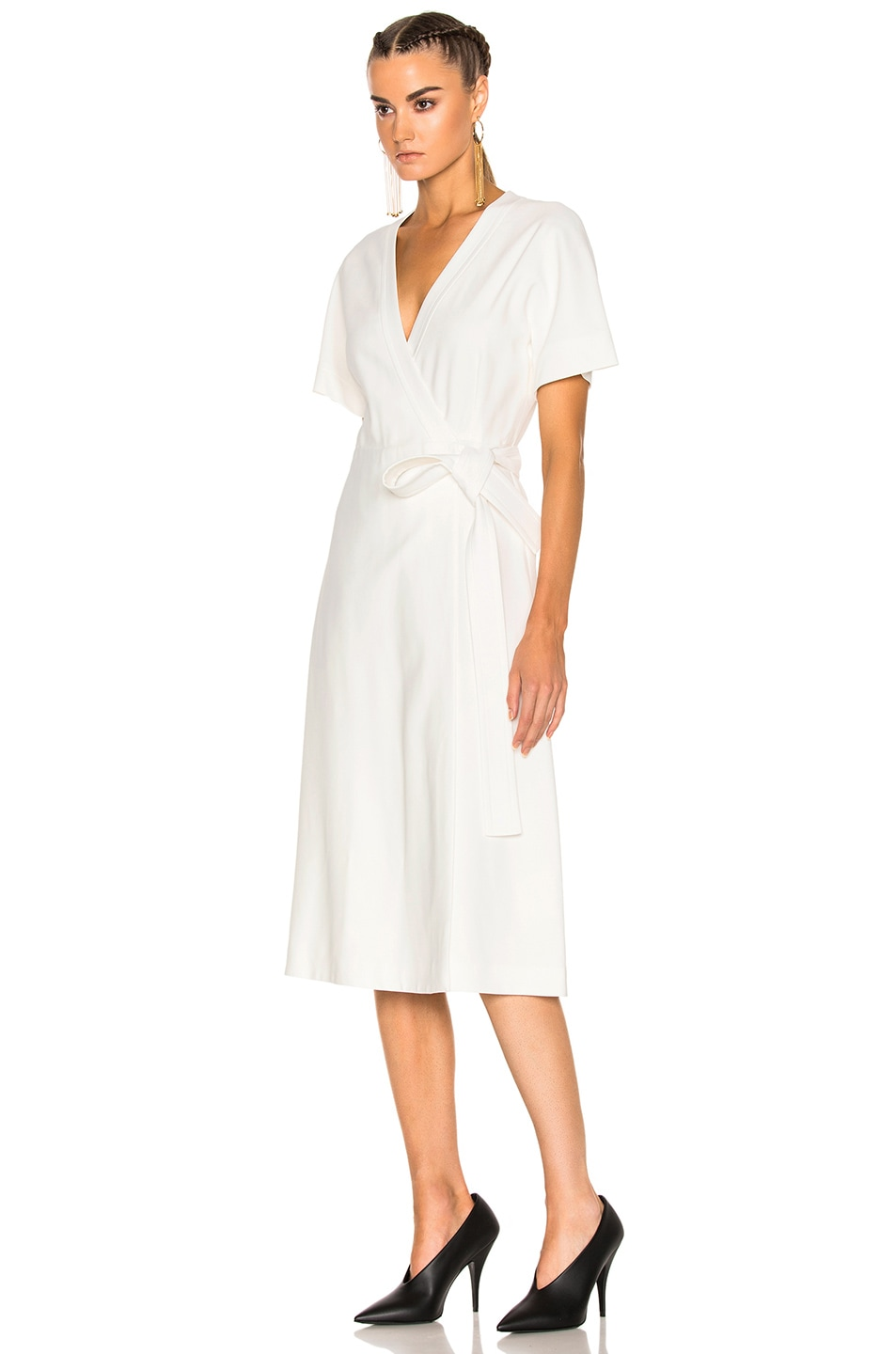 Image 2 of Lanvin Wrap Dress in Ivory