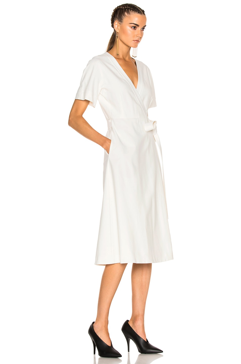 Image 3 of Lanvin Wrap Dress in Ivory