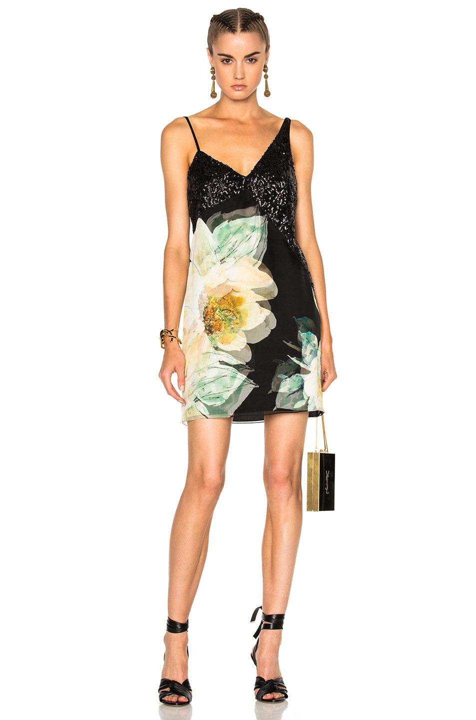Image 1 of Lanvin Sleeveless Mini Dress in Dark English Rose