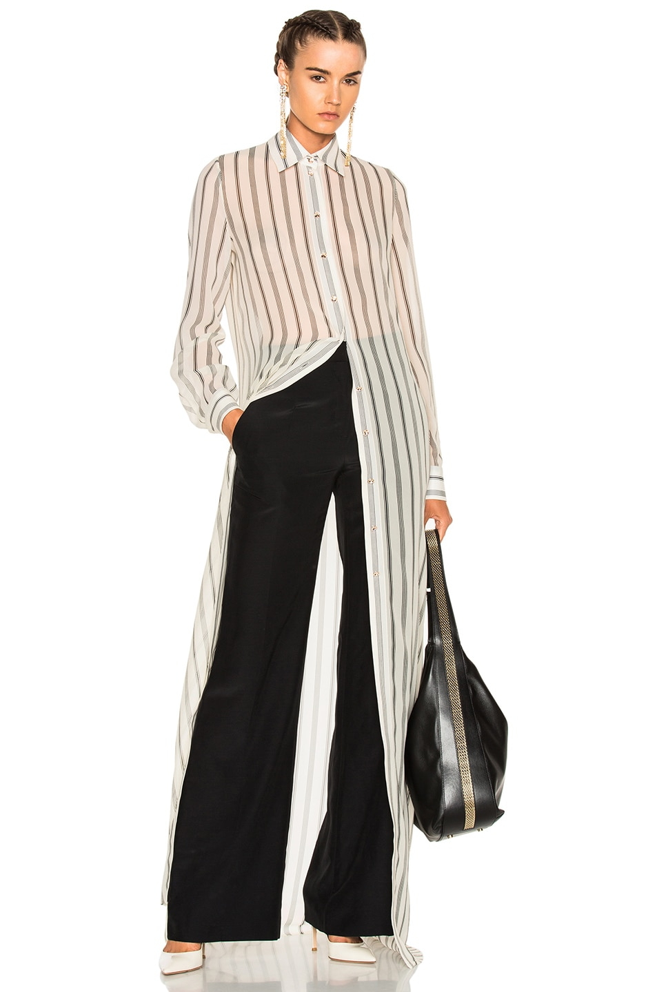 Image 1 of Lanvin Long Sleeve Maxi Dress in Ivory
