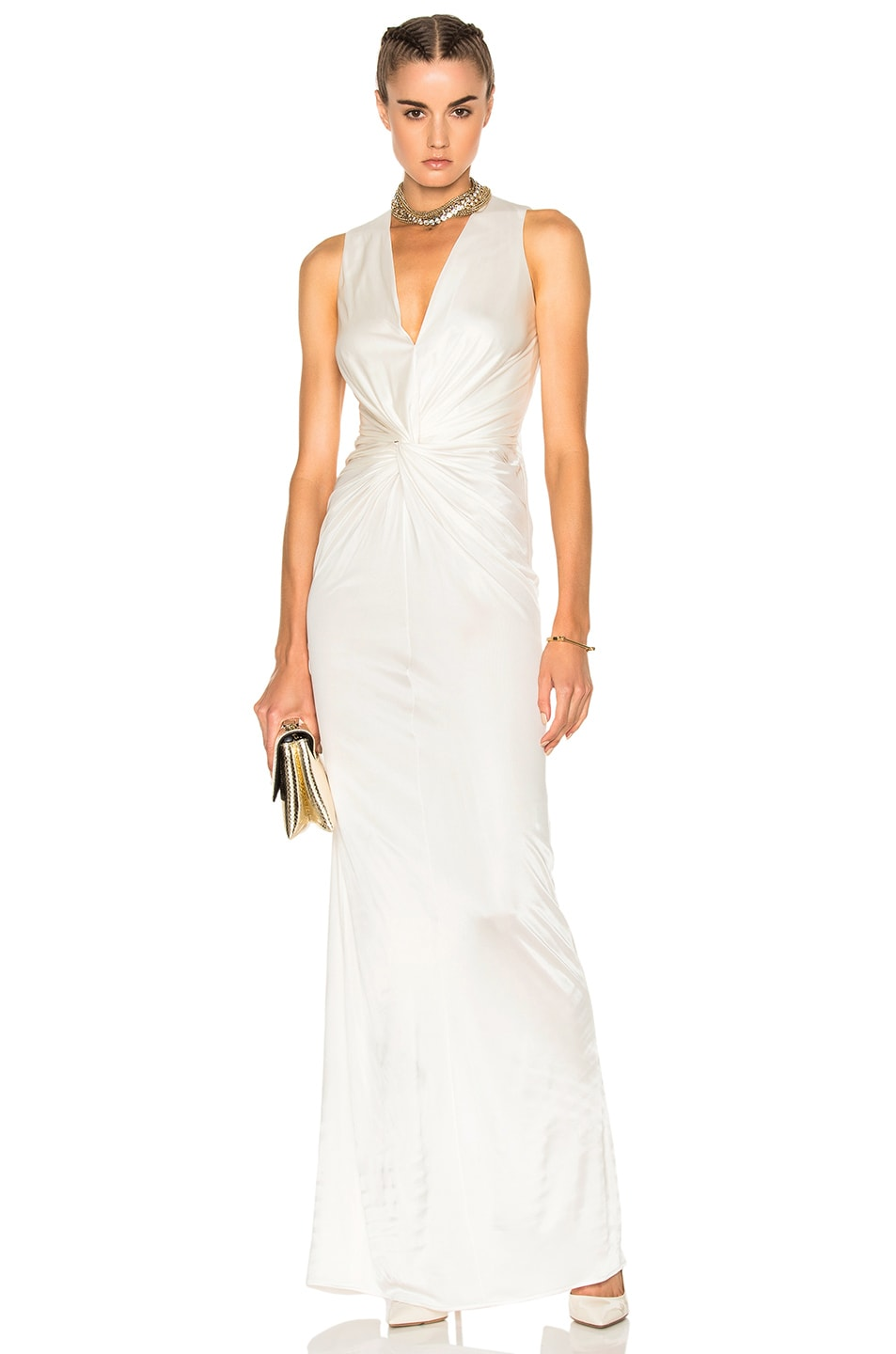 Image 1 of Lanvin Crossover Sleeveless Gown in Ivory