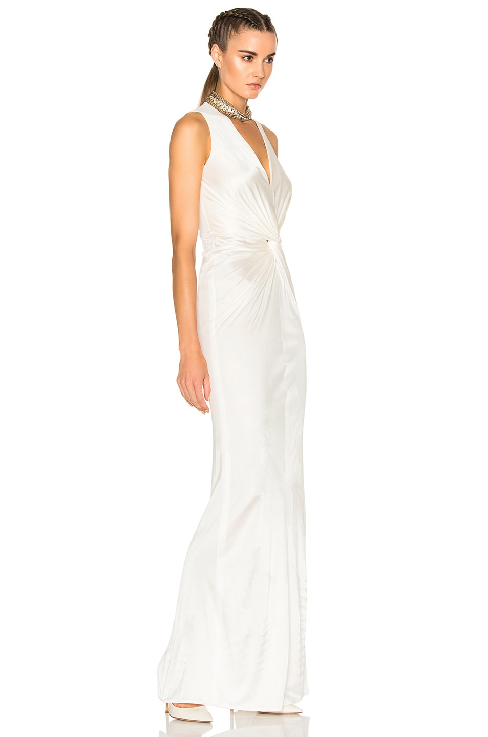 Image 3 of Lanvin Crossover Sleeveless Gown in Ivory