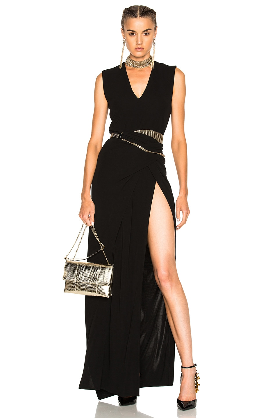 Image 1 of Lanvin Sleeveless Gown in Black
