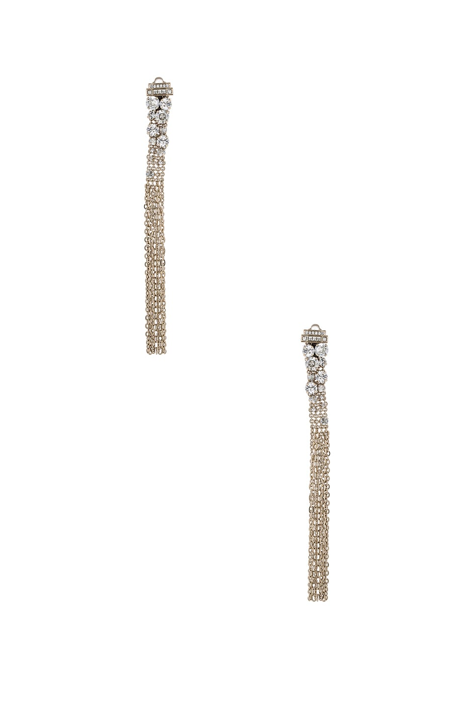 Image 1 of Lanvin Tassel Earrings in Light Gold