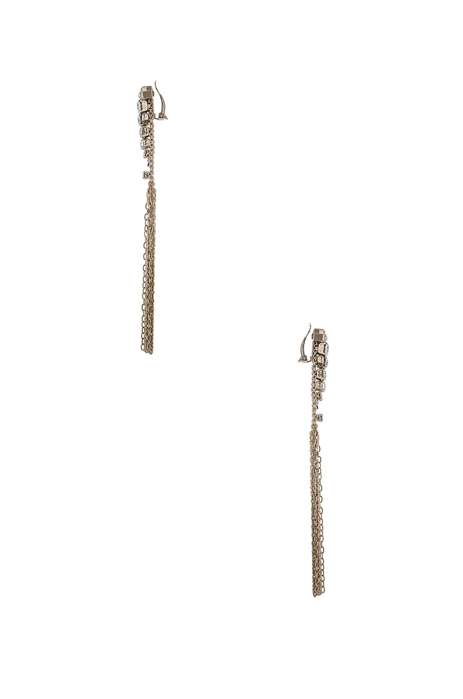 Image 2 of Lanvin Tassel Earrings in Light Gold