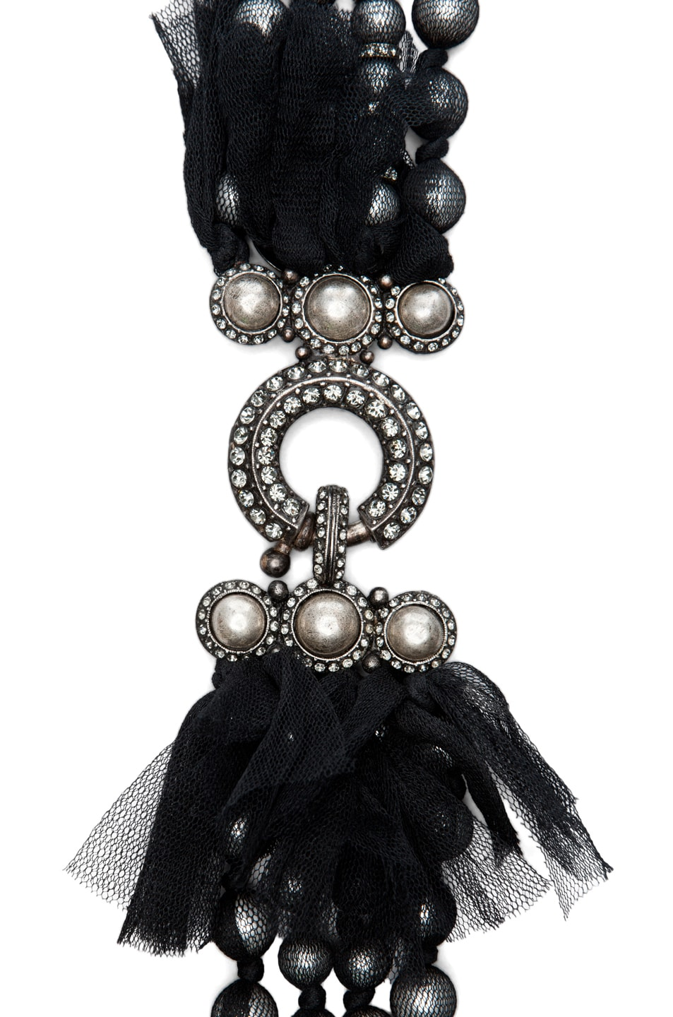 Image 2 of Lanvin 10 Year Anniversary Pearl Necklace in Black