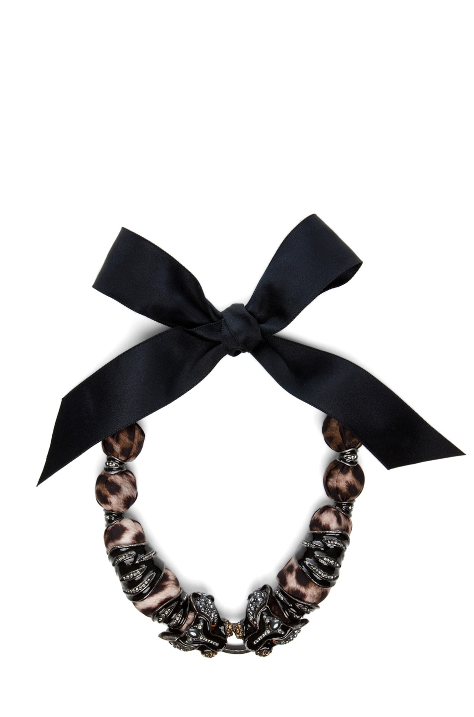 Image 1 of Lanvin 10 Year Anniversary Panther Necklace in Leopard